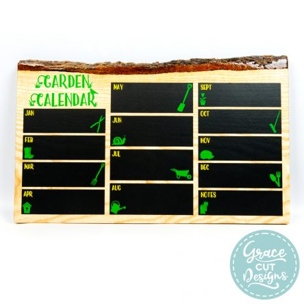 Rustic Wooden Garden Calendar
