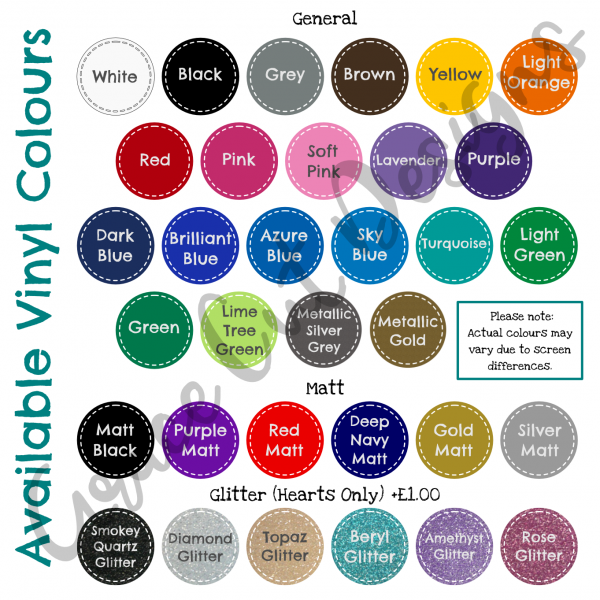 Wood Family Tree Colour Chart