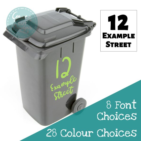 Bin number and Road Name Decals