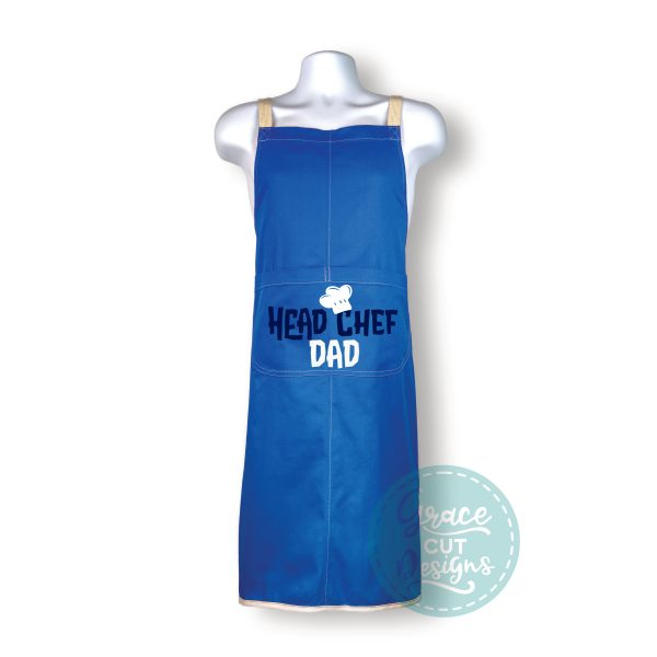 Head Chef Dad Apron with built-in oven gloves