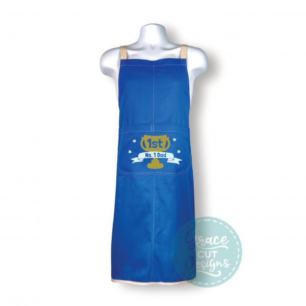 No 1 Dad Apron with built-in Oven Gloves