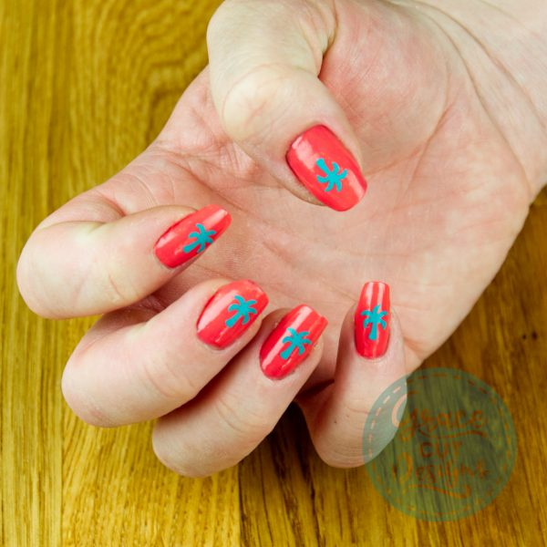 Nature Nail Decals - Flowers/Palm Trees