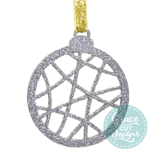 Christmas Abstract Lines Bauble