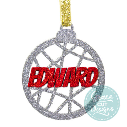 Christmas Abstract Lines Bauble Decoration