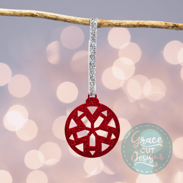 Christmas Geometric Wooden Bauble