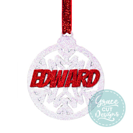 Christmas Snowflake Bauble Decoration
