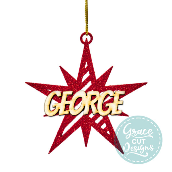 Christmas Striped Star Decoration