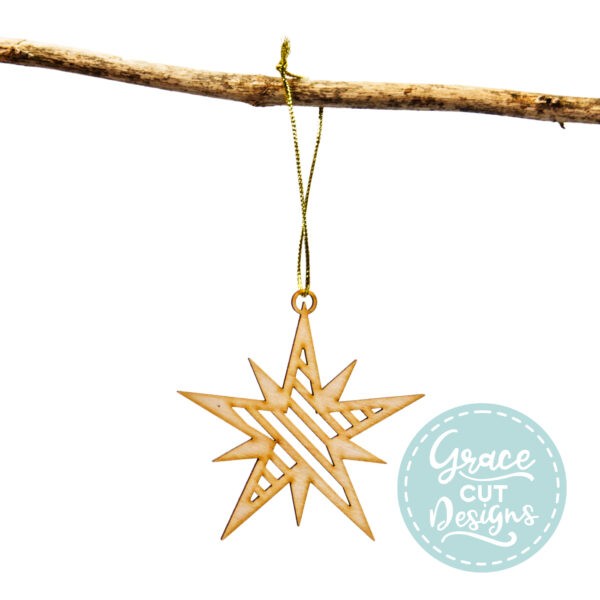 Personalised 3D Star Decoration for the Tree