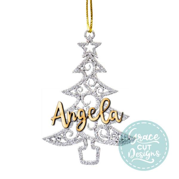 Swirly Christmas Tree Decoration