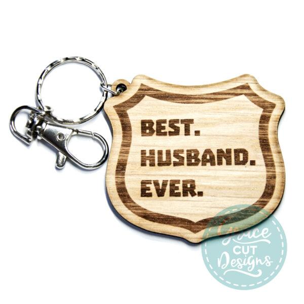 Best Husband Ever Shield Keyring