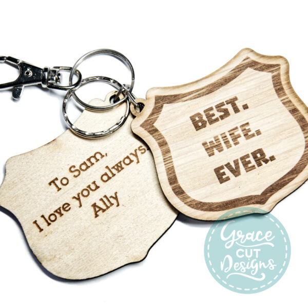 Best Wife Ever Shield Keyring