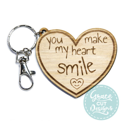 You Make My Heart Smile Keyring